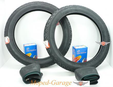 Hercules Prima M Moped Vee Rubber Reifen + Schlauch Satz 2 1/4 x 16 Zoll