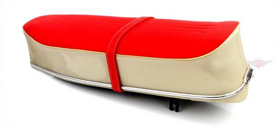 Rixe RS 50 Moped Mokick Original Denfeld Sitzbank Weiß Rot