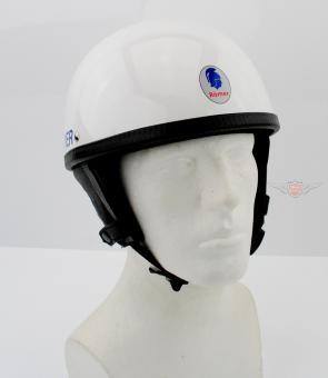 Oldtimer Römer Halbschalen Helm Retro 50er Moped Weiss