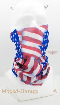 Mofa Moped Motorrad Roller Fahrer Halstuch Schampa US Flagge