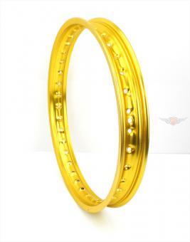 Simson Schwalbe KR S SR Aluminium Felge 1,50 x 16 Zoll Gold