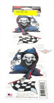 Mofa Moped Motorrad Custom Skull Race Aufkleber Set