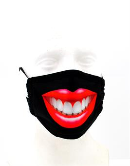 Staub Mund Schutz Maske Smiley Mundschutz Microfaser waschbar Microwelle