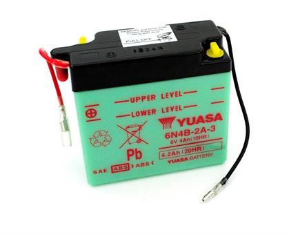 Yamaha DT RD 50 80 MX TY Yuasa Batterie 6 Volt 4 Ah Moped 6N4B-2A-3