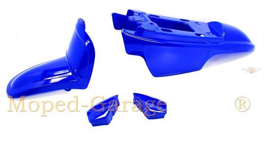 Yamaha PW 50 Mini Cross Moped Babycross Verkleidung Lacksatz Schutzblech Blau