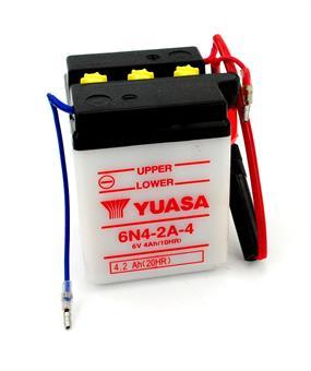 Yamaha RD 80 LC 1 RS 100 RX 80 Yuasa Mokick Batterie 6 Volt  4 AH 6N4-2A-4