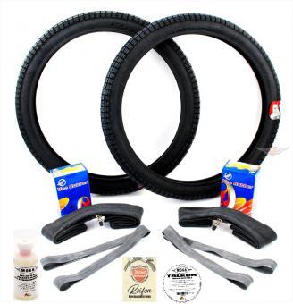 Victoria Vicky Luxus 2 1/4 x 19 Reifen mit Schlauch Satz 9 teilig