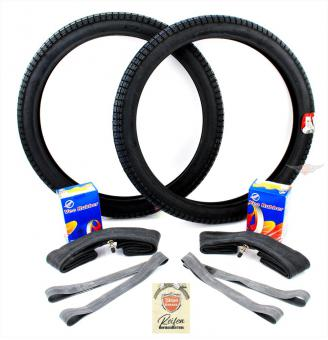 Victoria Vicky Luxus 2 1/4 x 19 Reifen mit Schlauch Satz 7 teilig