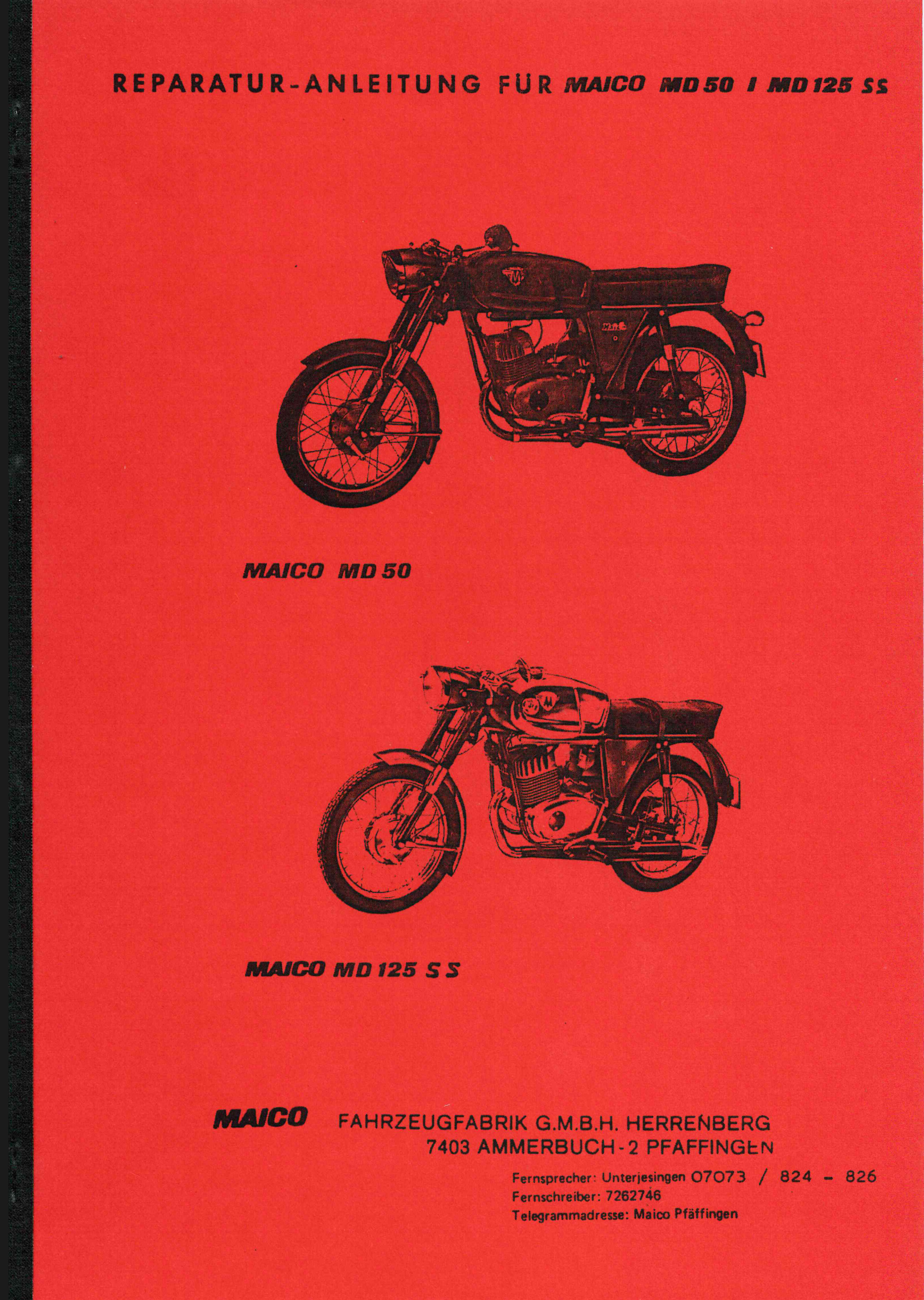 Moped-Garage.net | Maico MD 50 MD 125 SS RS 125 Reparatur Anleitung ...