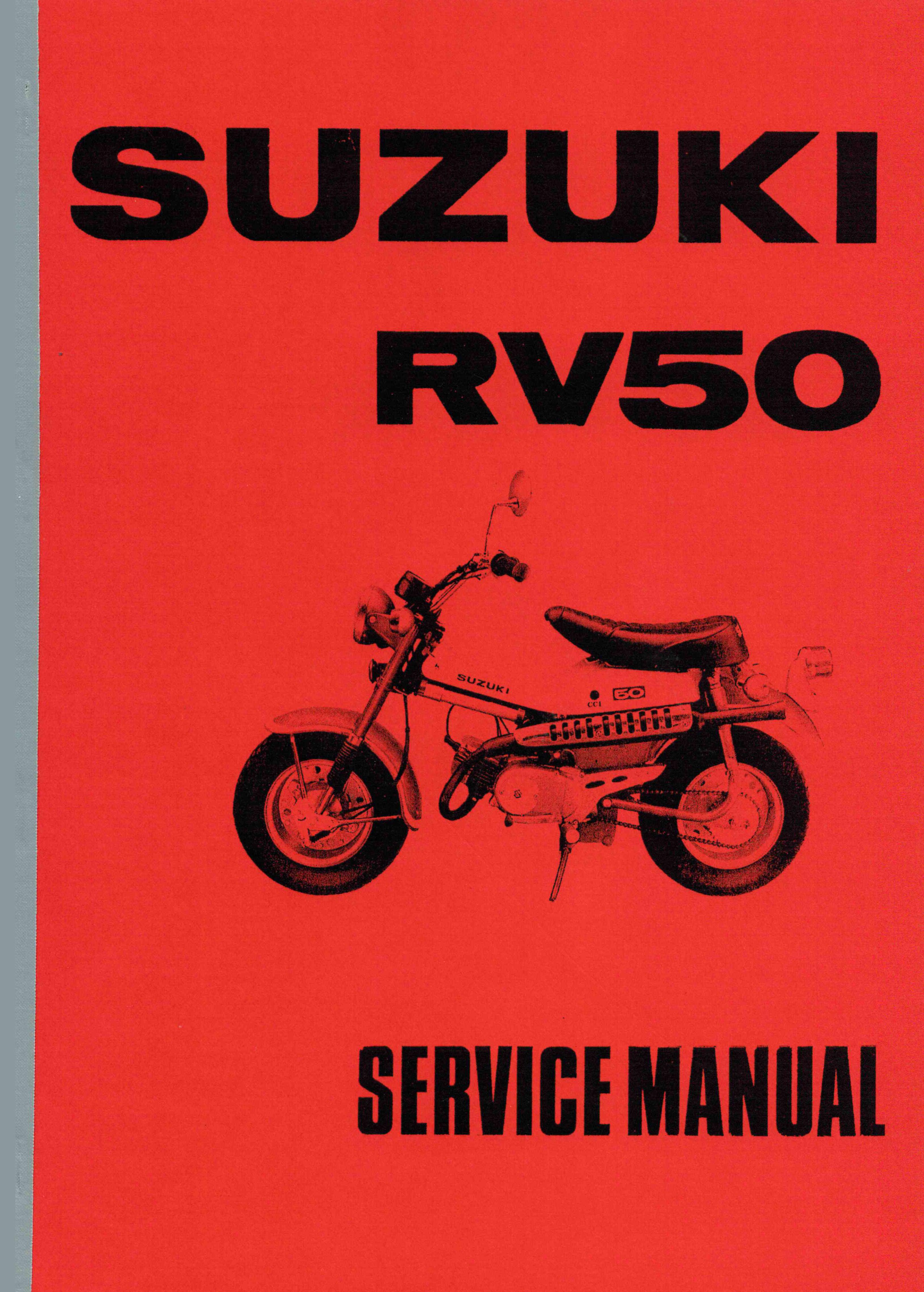 Suzuki RV 50 Service Manual Bedienung Anleitung Daten Technik Handbuch Neu