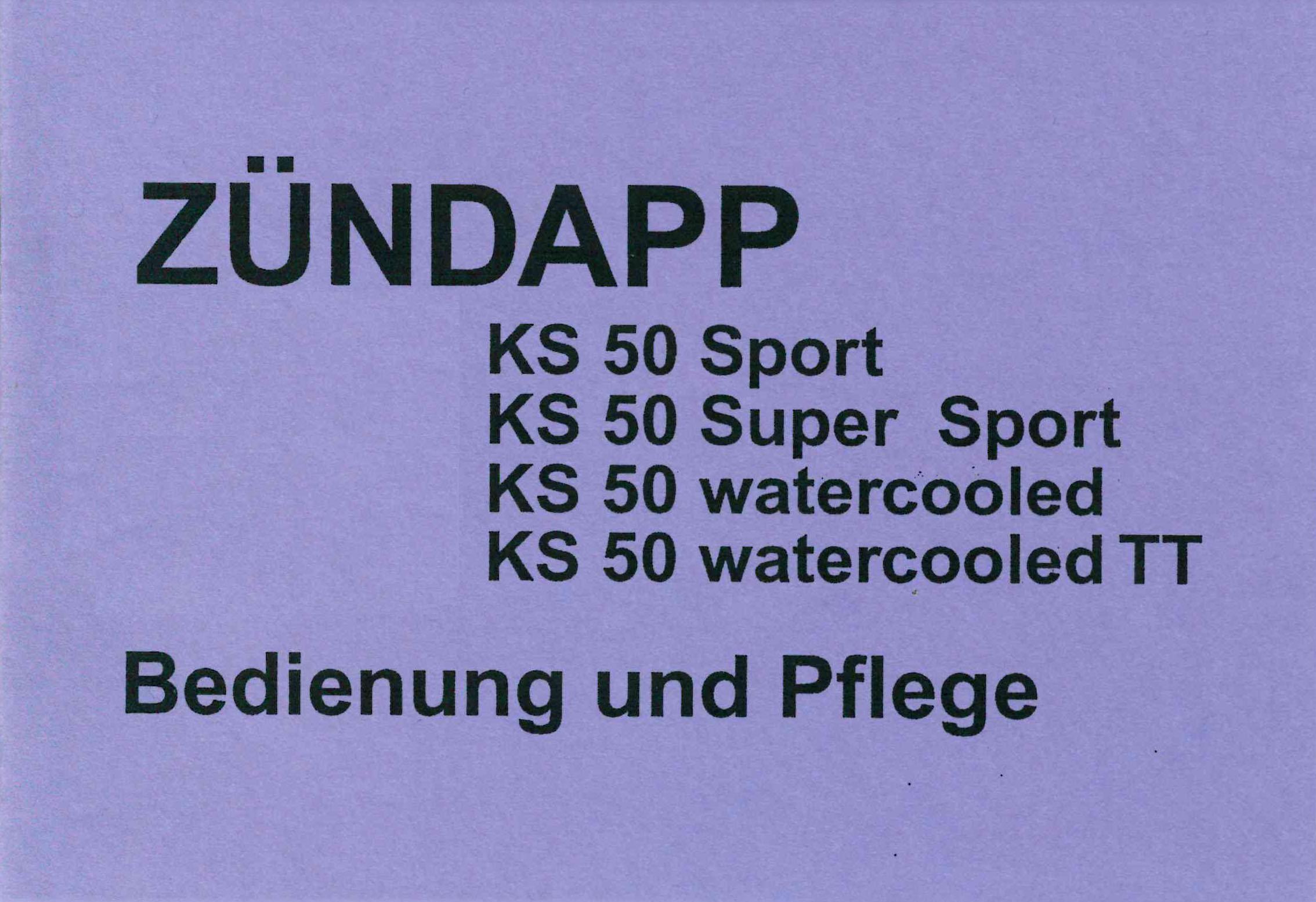 moped z ndapp ks 50 sport supersport wc wc tt. Black Bedroom Furniture Sets. Home Design Ideas