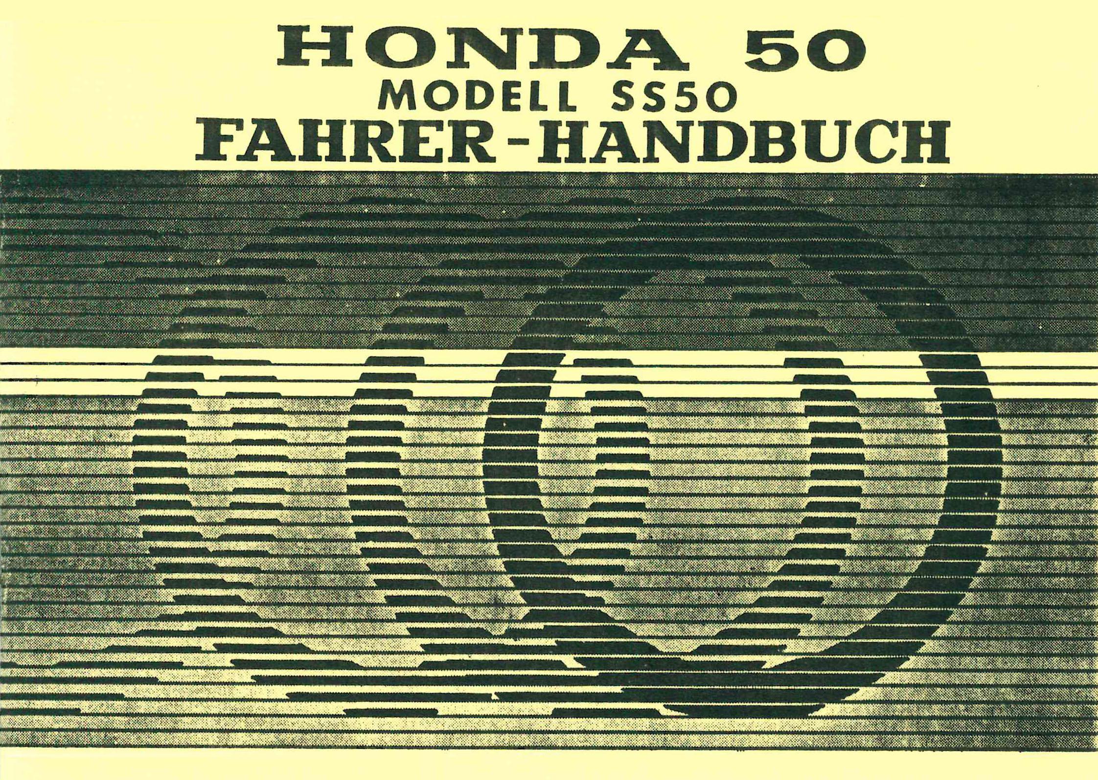 Moped-Garage.net   Honda 50 SS 50 Fahrer Handbuch ...