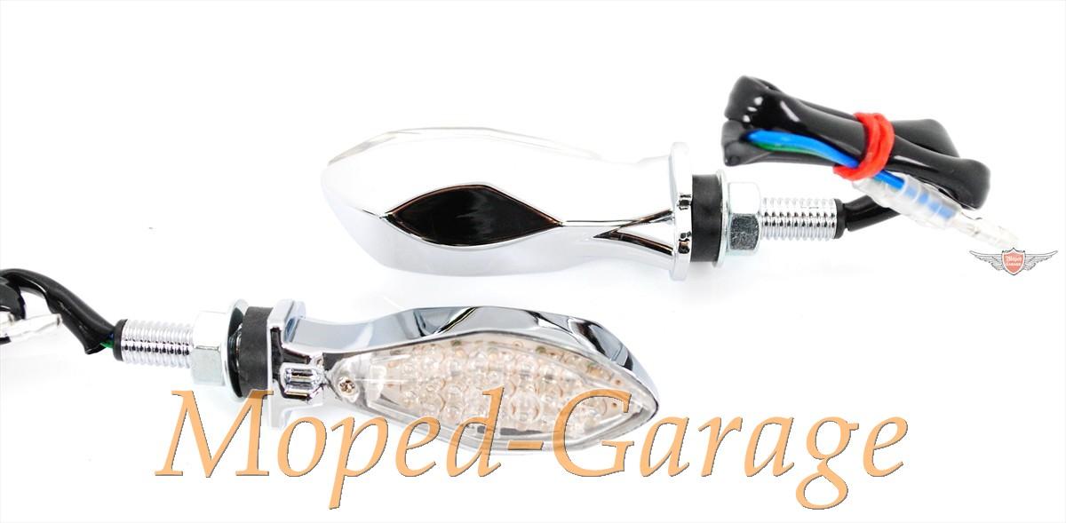 moped harley led mini blinker set matt chrom klarglas chopper moped teile kaufen. Black Bedroom Furniture Sets. Home Design Ideas