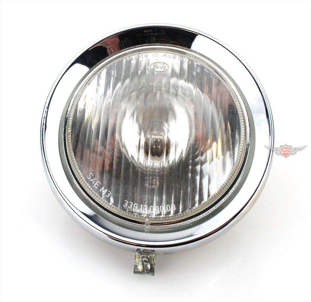 Puch Moped Mokick Motorrad  Scheinwerfer Chrom Lampen Schutz Bügel 190mm Neu