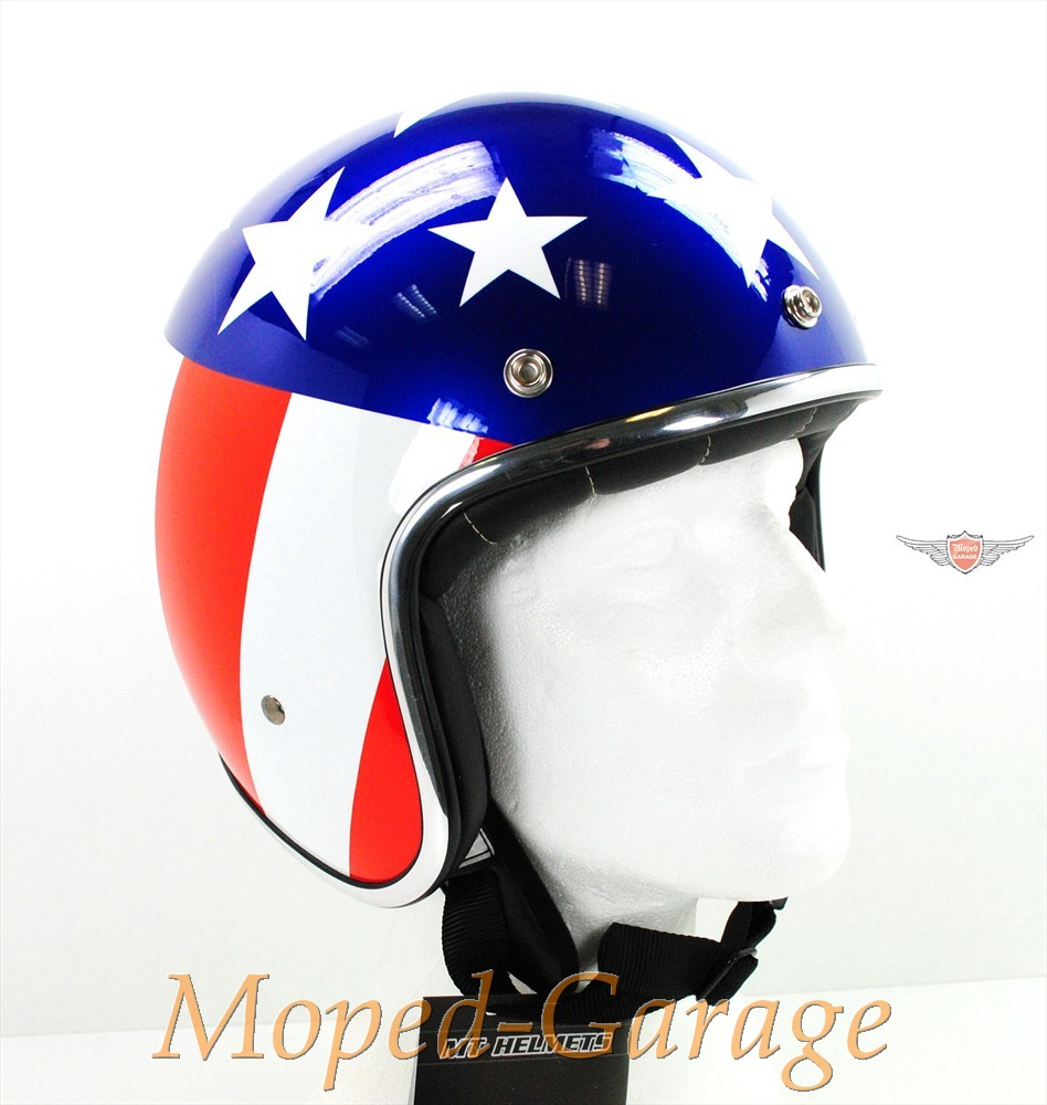 moped retro jet helm race star usa flagge. Black Bedroom Furniture Sets. Home Design Ideas