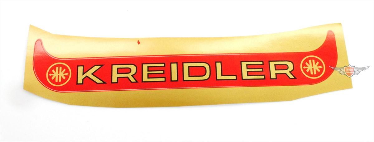 Kreidler Florett Flory Kennzeichen Aufkleber Mofa Moped Rot Groß