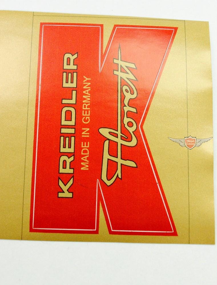 Kreidler Florett Eiertank Super Schutzblech Aufkleber Vorne Rot Gold K54