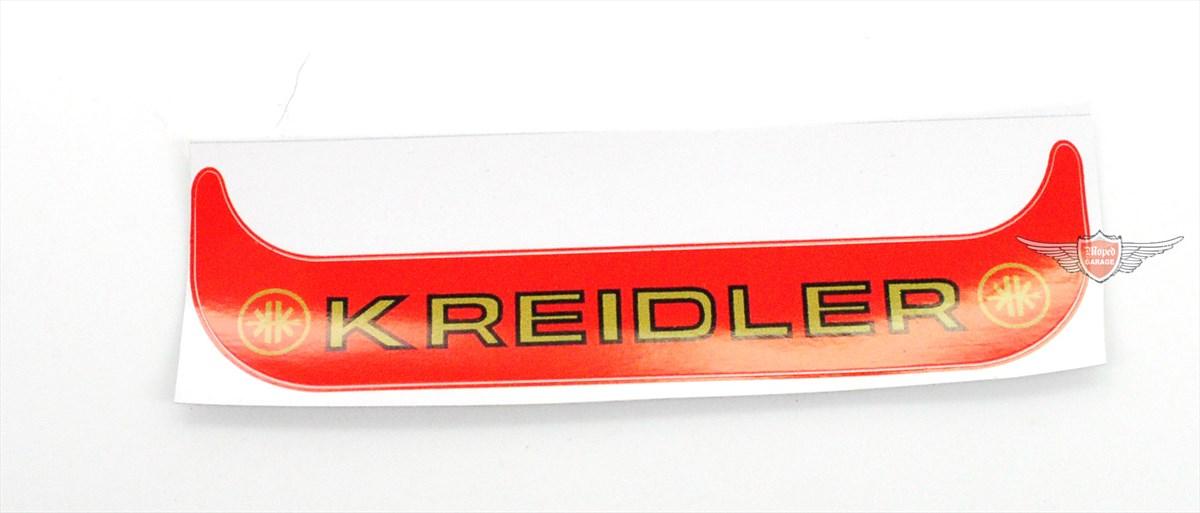 Kreidler Florett Flory Kennzeichen Aufkleber Mofa Moped Rot