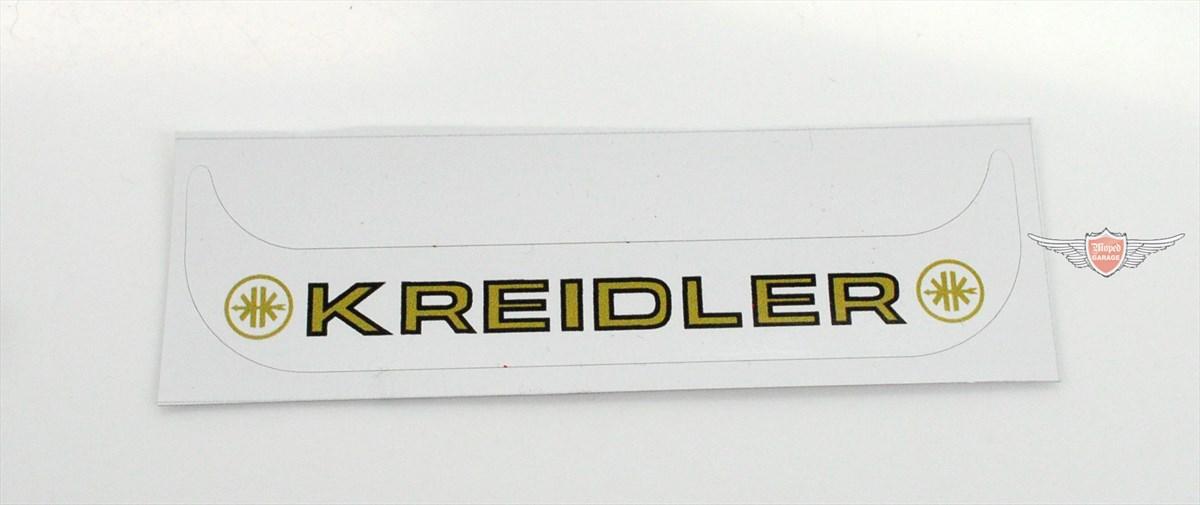 Kreidler Florett Flory Kennzeichen Aufkleber Mofa Moped Weiß