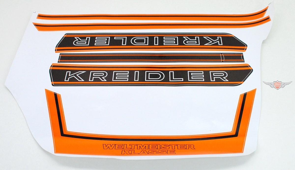 Kreidler Florett Rs Rmc K54 Weltmeister Tank Sitzbank Heck Aufkleber Satz Orange