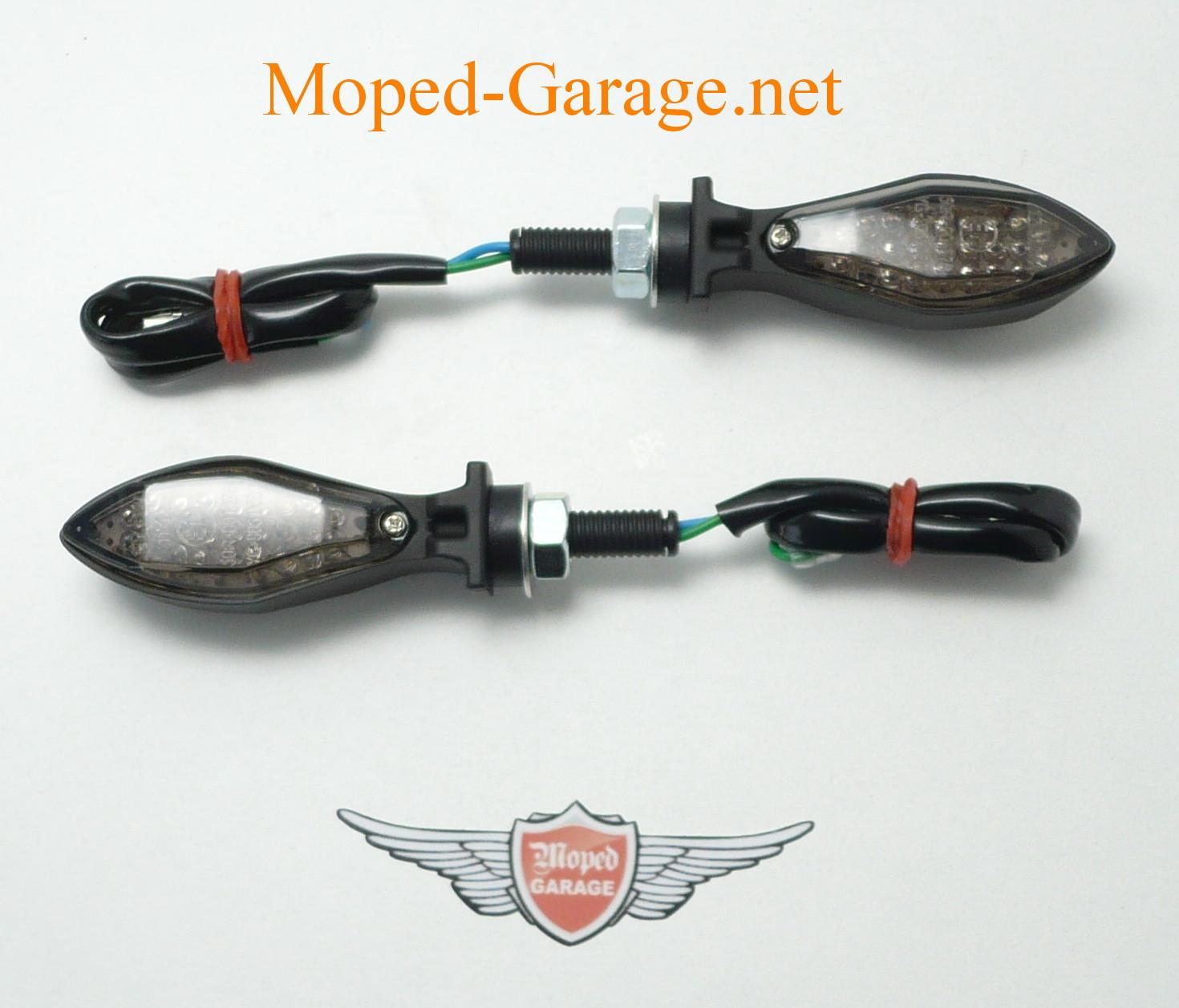 Moped Garage Net Harley Led Mini Blinker Set Matt
