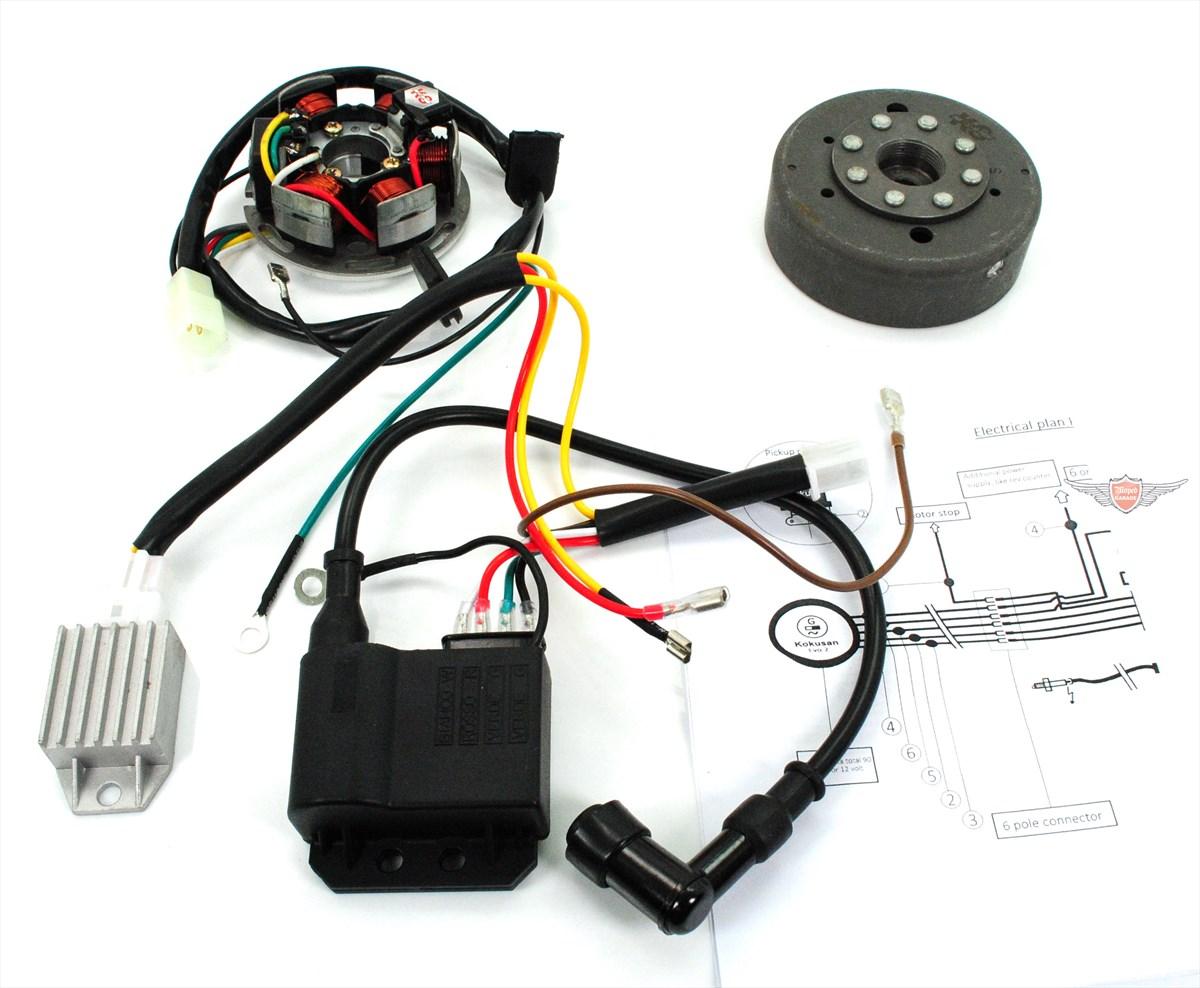 Moped-Garage.net | Moped Kokusan Kontaktlose Zündung 12 Volt EVO 2 ...
