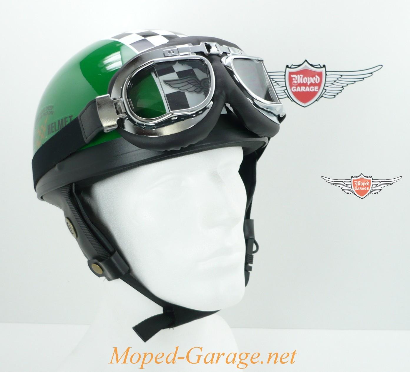 Moped Garage Net Oldtimer Halbschalen Helm Race Gr 252 N Mit