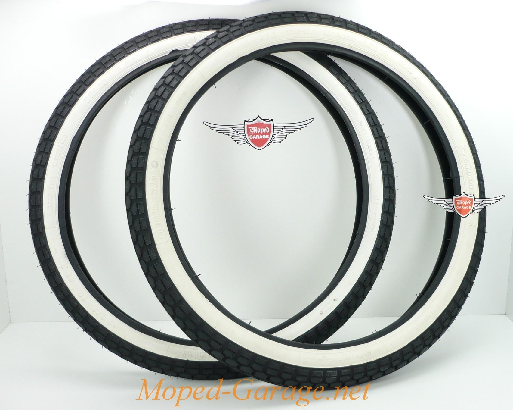 Puch MS 50 V Continental Weisswand Reifen Satz ad104bbc76