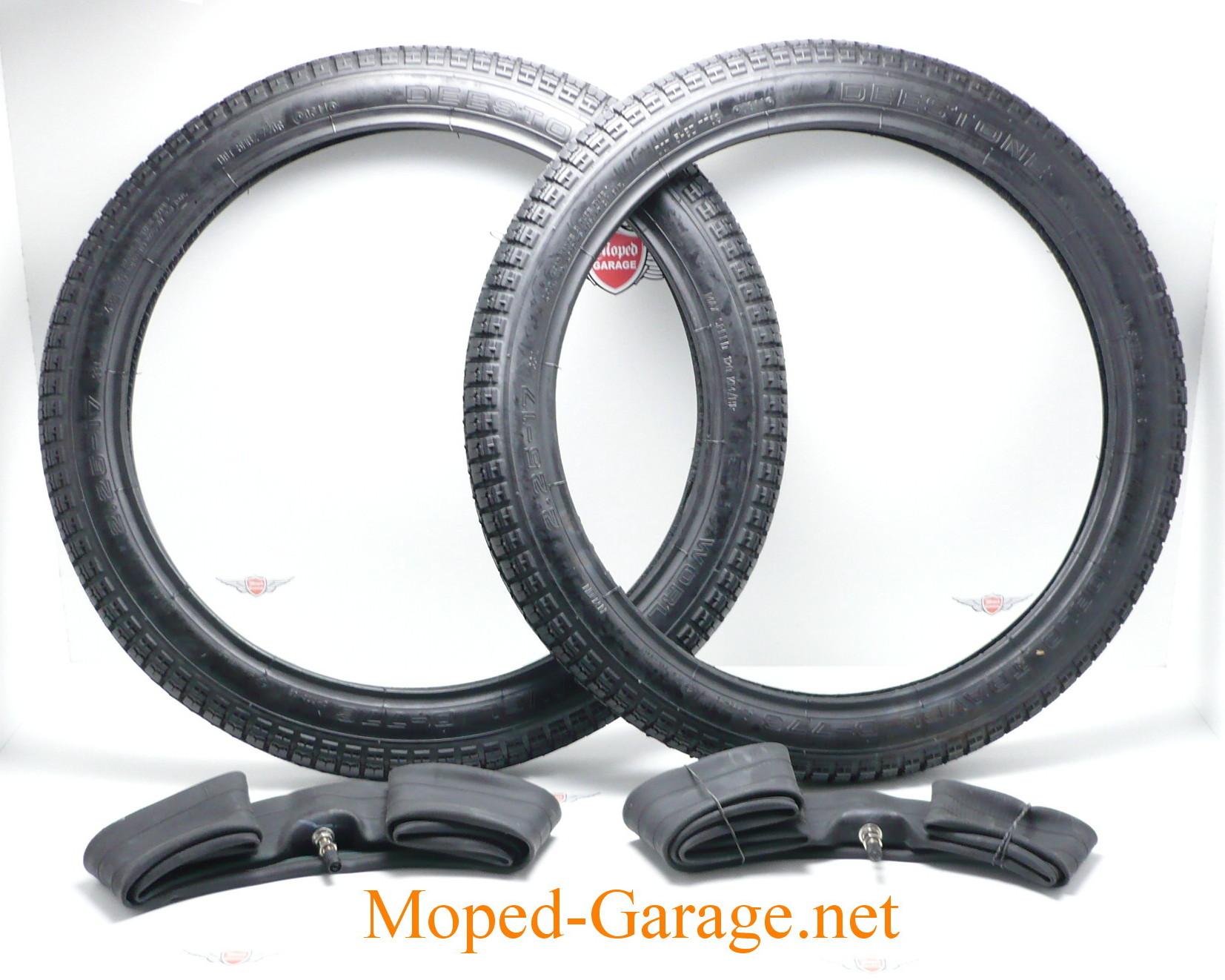 moped vee rubber mofa moped reifen schlauch satz 2 1 4 x 17 zoll moped teile kaufen. Black Bedroom Furniture Sets. Home Design Ideas