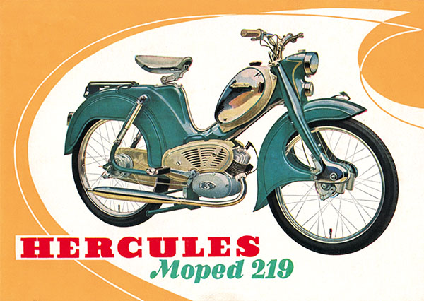 moped hercules moped werbe plakat typ 219 50er 60er jahre moped teile kaufen. Black Bedroom Furniture Sets. Home Design Ideas