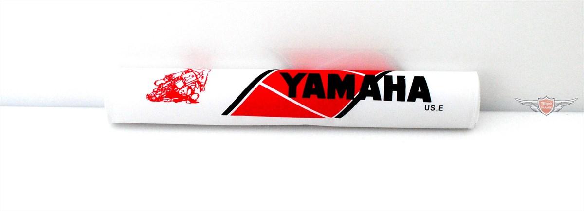 Lenkerpolster f/ür Yamaha Modelle Weisses Logo