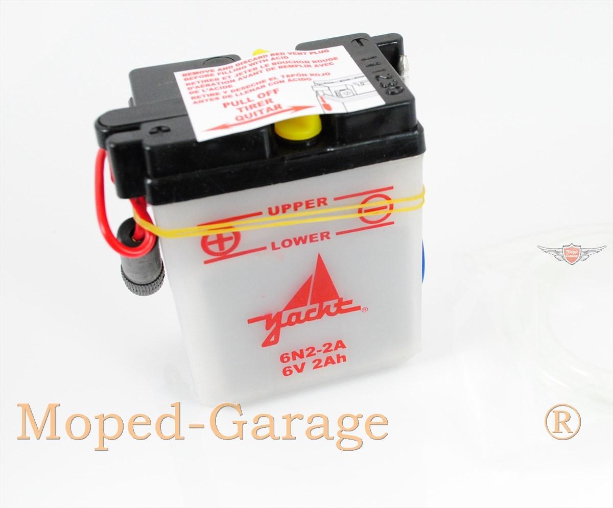 moped yamaha dt rd 50 fs mokick moped kkr batterie 6 volt 2 ah elektrik 6n2 2a. Black Bedroom Furniture Sets. Home Design Ideas
