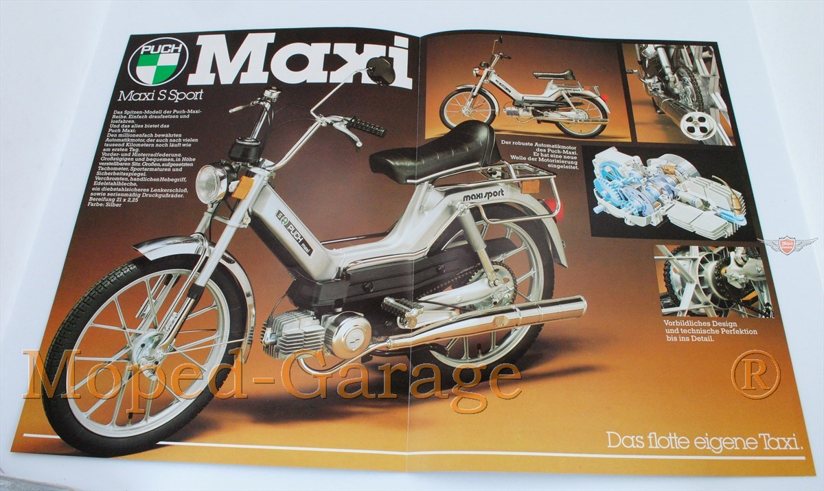 moped puch maxi mofa n s sport original. Black Bedroom Furniture Sets. Home Design Ideas