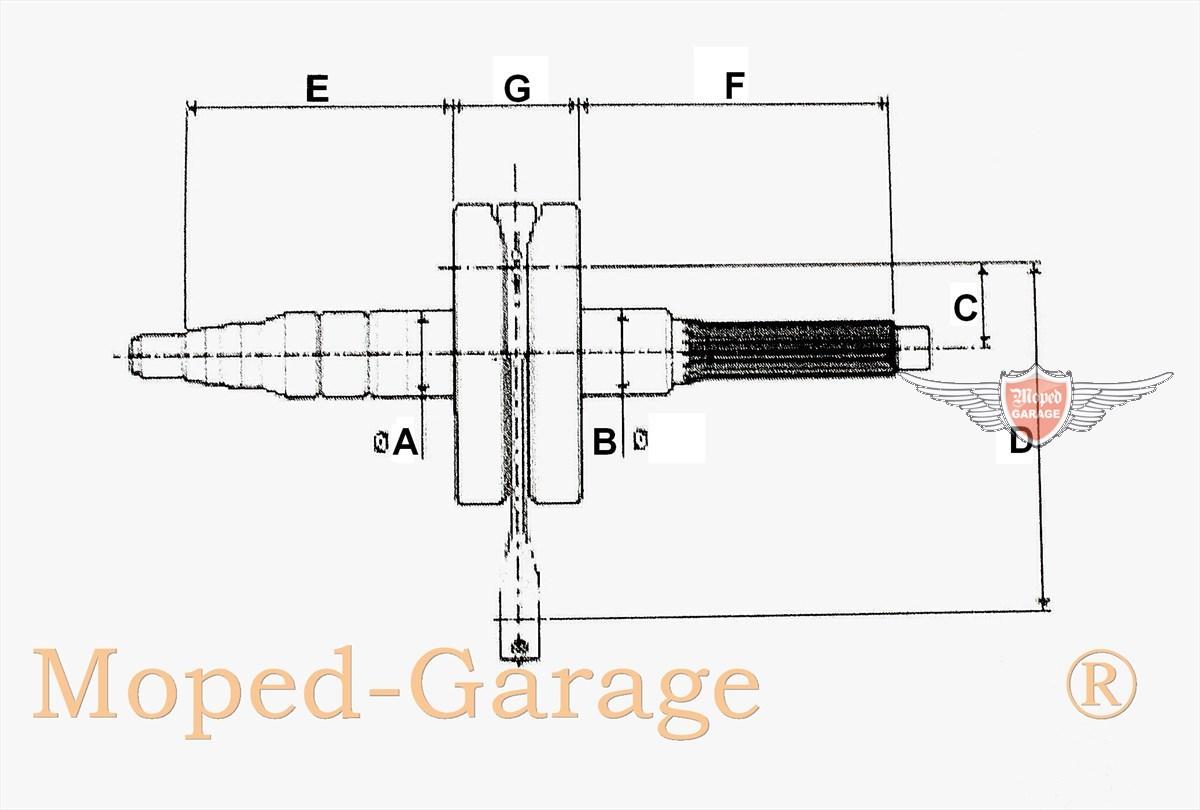 moped hercules prima gt gx kurbelwelle sachs motor typ 501 506 3 14mm bolzen. Black Bedroom Furniture Sets. Home Design Ideas