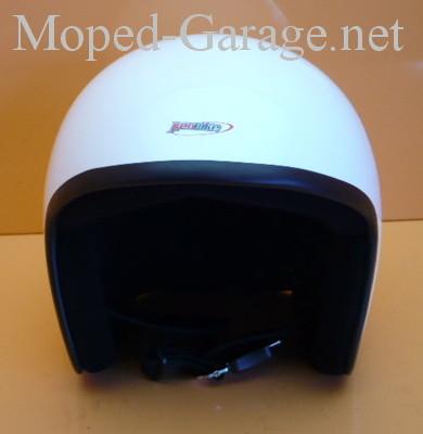 moped chopper custom motorrad helm kleine schale wei moped teile kaufen. Black Bedroom Furniture Sets. Home Design Ideas