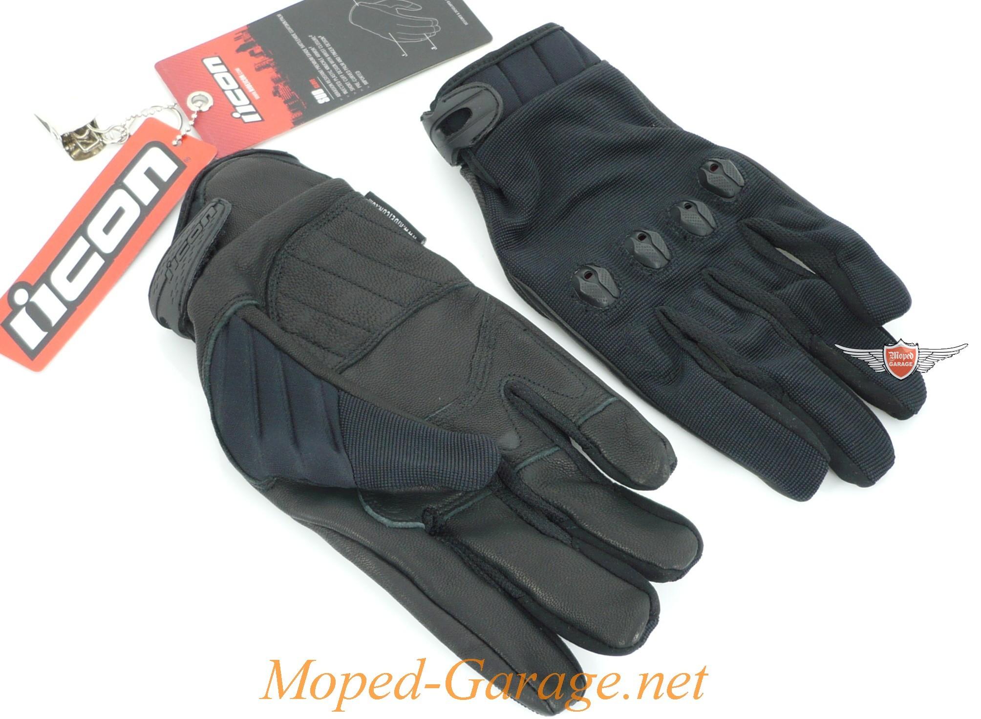 moped motorrad chopper handschuhe icon black. Black Bedroom Furniture Sets. Home Design Ideas
