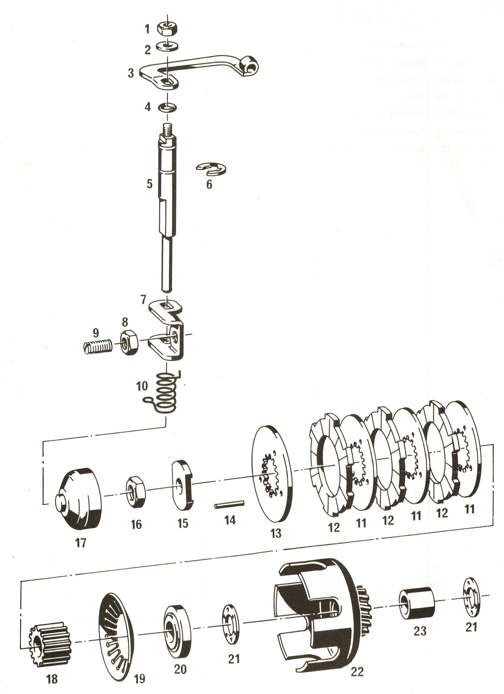 Kupplungslamellen Satz für  Hercules Prima 25 4 1-Gang Automatik