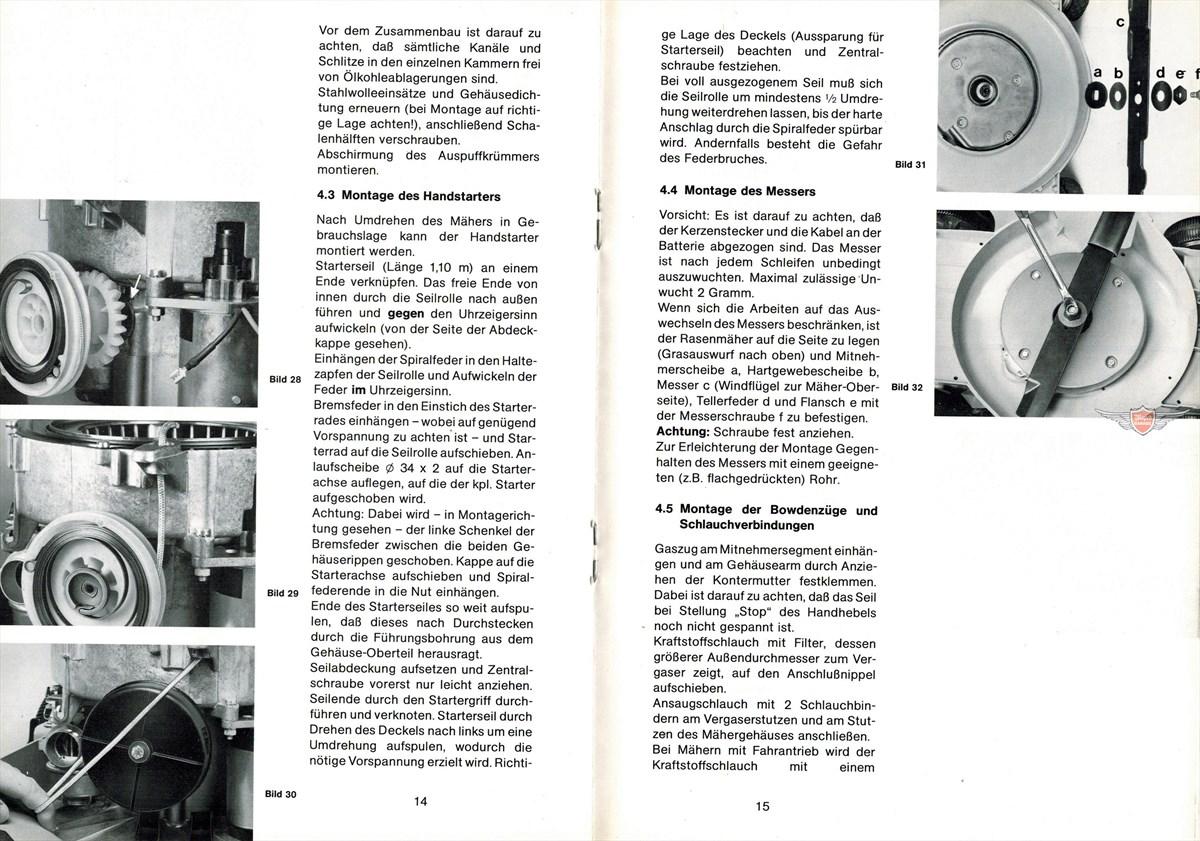 moped z ndapp arbeiten am motor rasenm her typ 692 reparatur anleitung original. Black Bedroom Furniture Sets. Home Design Ideas