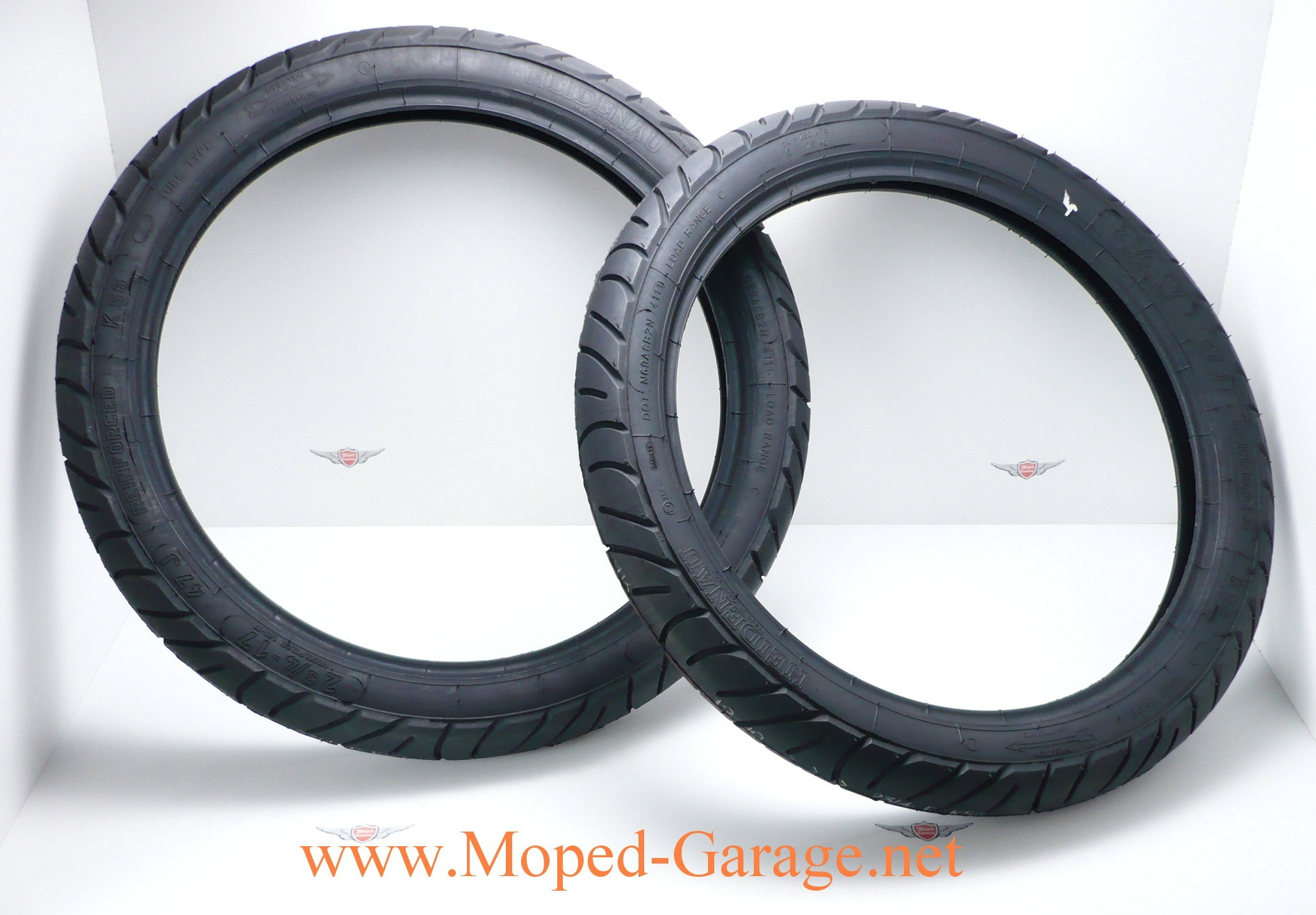 Details zu Puch Cobra Monza Mokick 9 Km/h Race Renn Reifen Set Heidenau  9 Zoll Neu*